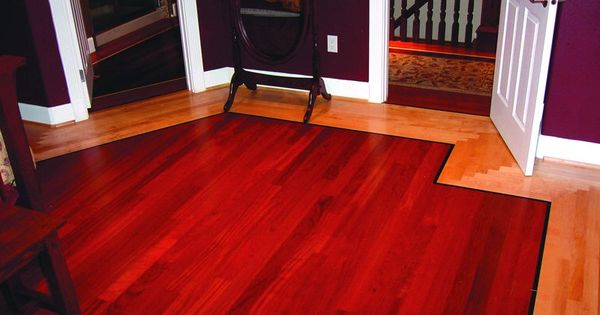 Blair son floor co two toned hardwood flooring project for Hardwood floors tacoma