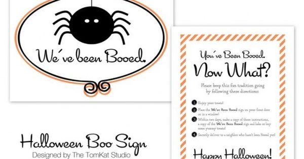 Free Printable BOO Signs :: Halloween Ideas - The TomKat Studio