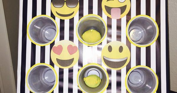 Emoji Bean Bag Toss Cardboard Box And Disposable Cups