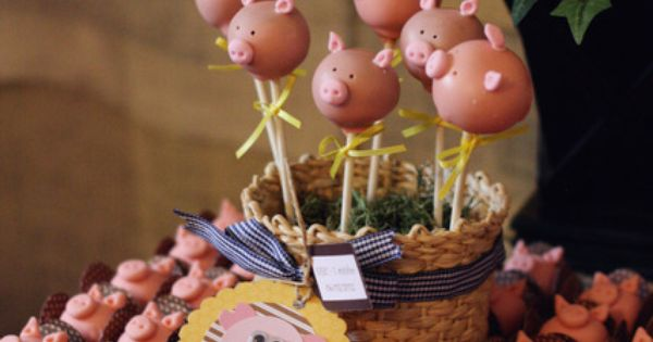 Piggy cake pops! So cute