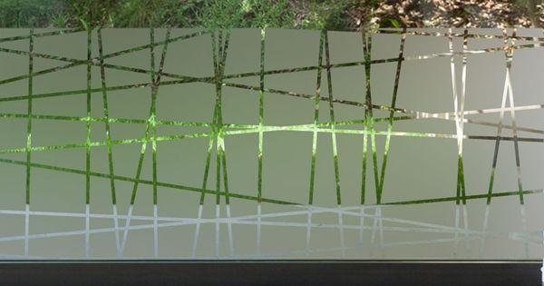 Sticker occultant vitre tissage id deco pinterest carreaux de fen tre tissage et film - Film occultant fenetre decorative ...
