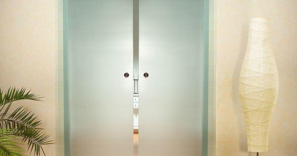 Dubbele gehard glazen schuifdeur satijn matelux melkglas bedroom ideas pinterest glazen - Glazen ingang ...