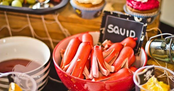 hot dog squid Pirate Themed 5th Birthday Party - Kara's Party Ideas