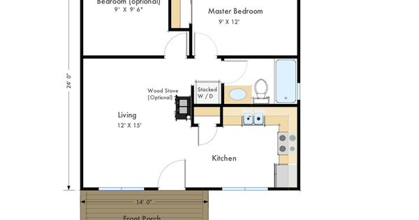 Frontier Zip Kit Home 2br 1ba 576 Sq Ft Great Use Of