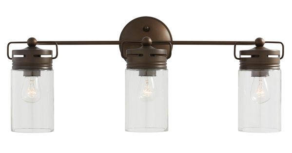 Shop Allen + Roth 3-Light Vallymede Aged Bronze Bathroom