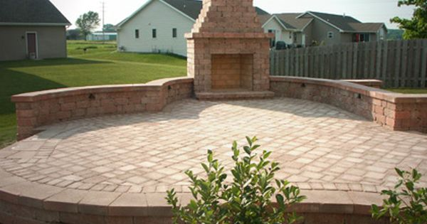 Patio Fireplaces | Elevated Paver Patio With Outdoor Fireplace, Appleton,  Wisconsin