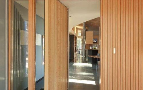 Pivot wood door puertas pivotantes una apertura - Medidas de puertas de interior ...