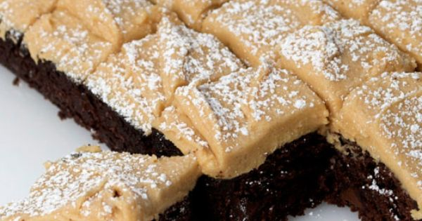 Brownie bars with peanut butter frosting. The frosting is to die for!
