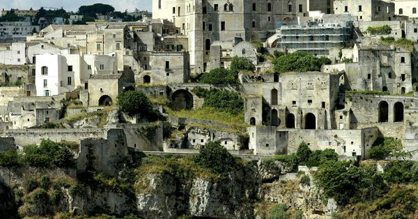 [The cave dwellings (the Sassi di Matera) in Madera, Southern Italy. These