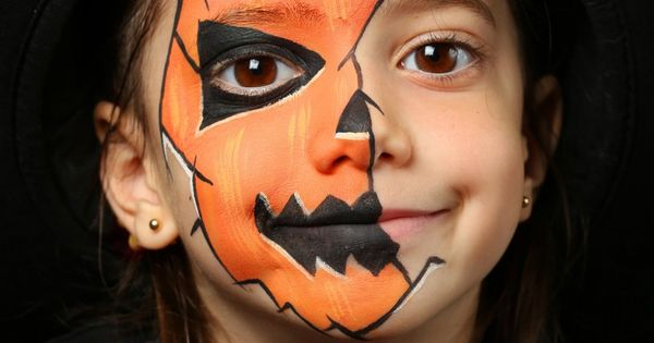 maquillage de citrouille pour enfant halloween pinterest halloween. Black Bedroom Furniture Sets. Home Design Ideas