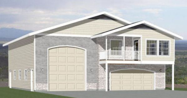 44x48 Apartment With 2 Car 1 Rv Garage Pdf Floorplan 1 648 Sqft Model 1a In 2020 Small House Plans Floor Plans House Plans