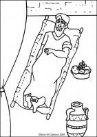 Coloring Page Of Paralyzed Man Jesus Heals Paralyzed Man Bible