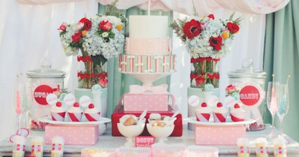 wedding ideas and inspiration carnival wedding dessert table with cake 27975
