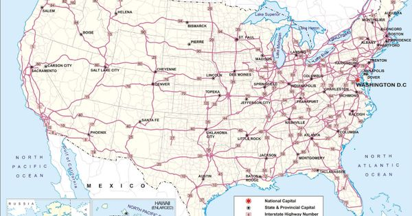 US Road Map Just Give Me A Car And A Map Well Ok GPS Is Great - Us map with main roads