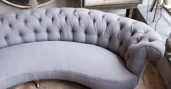 Curved Grey Sofa For The Home Pinterest The Window