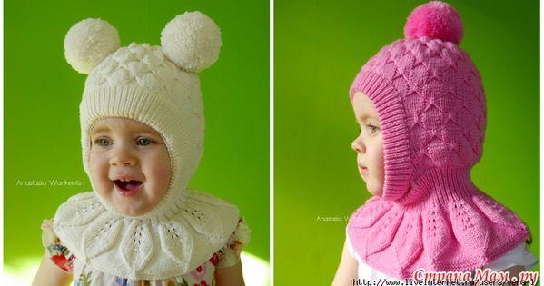 Вяжем детям шапка шлем