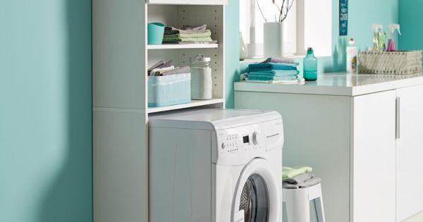 Ordex armario para encima de la lavadora secadora a for Mueble para lavadora ikea