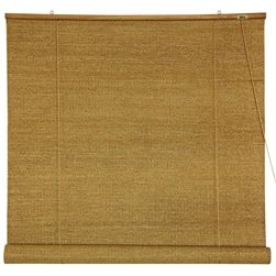 Hanging Room Divider Window Blinds Made From Woven Jute Fabric