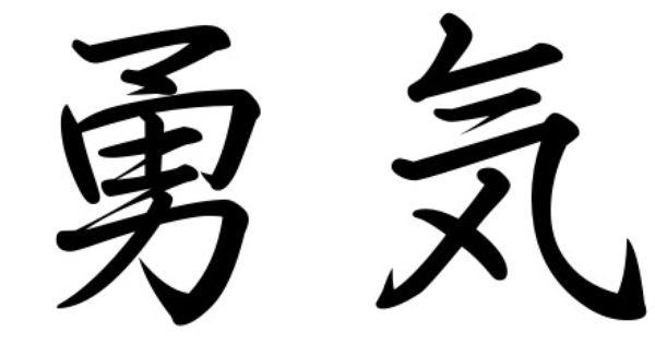 courage strength tattoo in kanji strength kanji tattoos