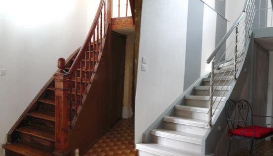 R novation d 39 un escalier bois par habillage avec rampe inox r novation escalier pinterest - Renovation escalier par recouvrement ...