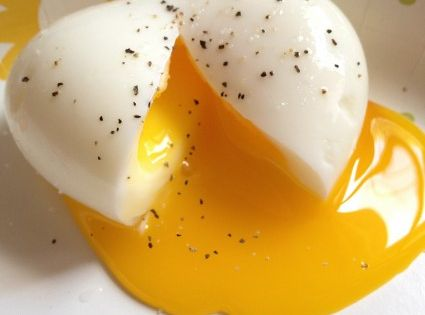 magical hard-boiled egg w/ soft yolk. the best of a fried egg