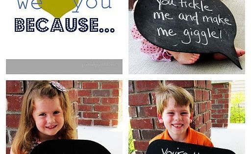 Father's Day gift idea using photo's & kids quotes