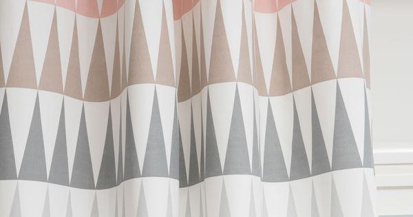 rideau illets en coton rose 110 x 250 cm trendy. Black Bedroom Furniture Sets. Home Design Ideas