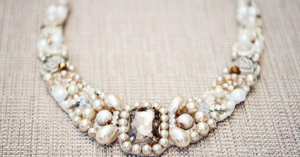 Pearl & Crystal Statement Necklace diy doityourself necklace bracelet kolye bileklik model