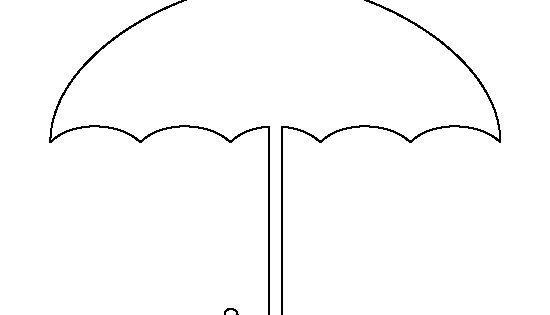 printable umbrella template for preschool - umbrella pattern use the printable outline for crafts