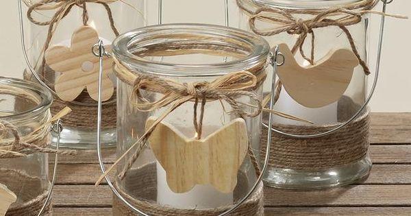 windlicht kerzenhalter teelichthalter svea glas holz h17cm basteln pinterest craft. Black Bedroom Furniture Sets. Home Design Ideas