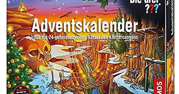 Kosmos 631888 Die Drei Adventskalender 2015 Lose Die 24 Geheimnisvollen Ratsel Des Klettercan Adventskalender Adventkalender Adventskalender Schokolade