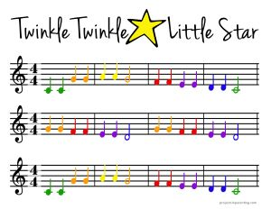 Color Coded Beginner Piano Sheet Music With Images Beginner