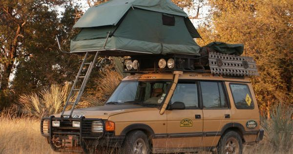 Camel Trophy Land Rover With Roof Tent ★ App For Land Rover Amp Range Rover ★ Red Rover