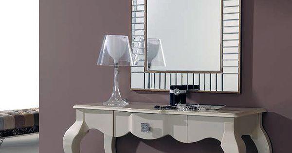 Recibidor con espejo y consola 294 ar5 muebles - Consolas decoracion hogar ...