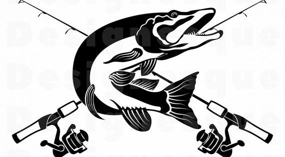 Northern Pike Fishing Svg Fishing Logo Svg Fish Svg Fishing Etsy Fish Logo Fishing Svg Fish Clipart