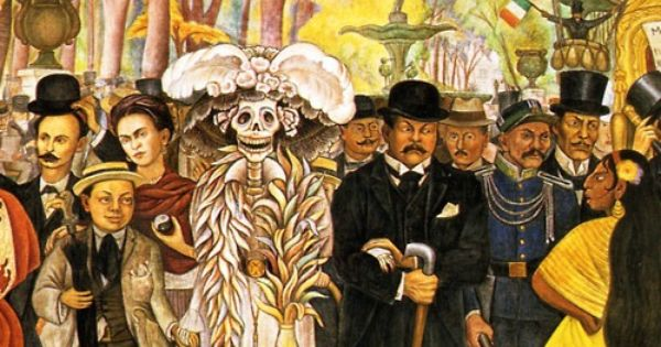 diego rivera dream of a sunday afternoon in alameda park detail 1948 diego rivera. Black Bedroom Furniture Sets. Home Design Ideas