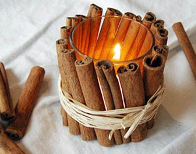 DIY Cinnamon Stick Votives - so pretty Fall Crafts
