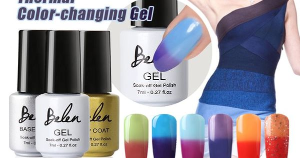 Belen 7ml Temperature Change Color Uv Nail Gel Polish Uv Nails Soak Off Gel Nails Gel Polish