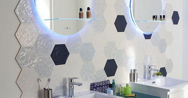 carrelage mural hexagonal 17 5 x 20 cm d cor makara
