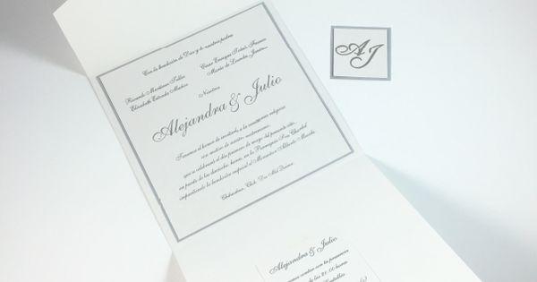 invitaciones de boda para  u0026quot alejandra y julio u0026quot  invitaciones