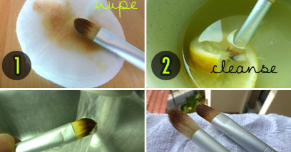 clean brushes naturally with olive oil, vinegar and lemons