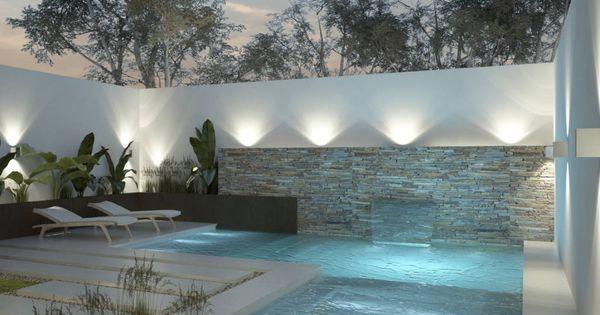 Fotos de piletas de estilo moderno dise o de patios for Diseno de patio exterior pequeno