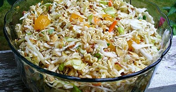 Asian chicken salad with asian slaw