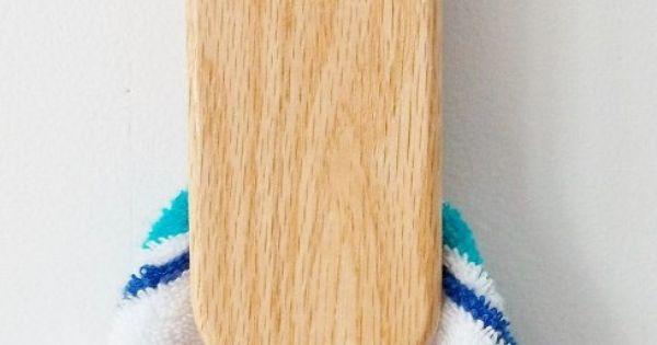 Magic Marble Towel Holder Oak Wood Wall By