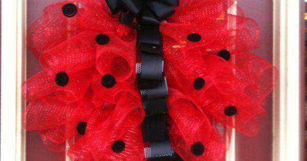 Ladybug Red and Black Polka Dot Large 28inch by OnElizabethStreet, Garland Banner|