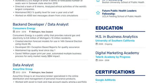 The Ultimate 2019 Guide For Crafting The Perfect Sql Data Analyst Resume Including 3 Sql Data Analyst R Resume Examples Resume Free Resume