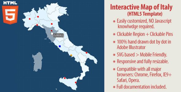 Interactive Map Of Italy Html5 Italy Map Interactive Map Map