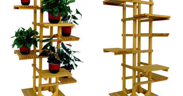 Plant Stands For Multiple Plants Wood Novelty Tall 6 Tier Indoor