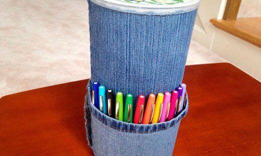 55 Craft Ideas Using Old Denim Jeans Crafts Jean