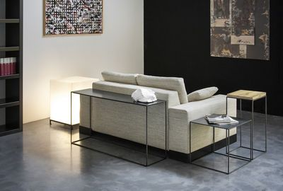 Coffee Table Slim Irony By Zeus Black Made In Design Uk